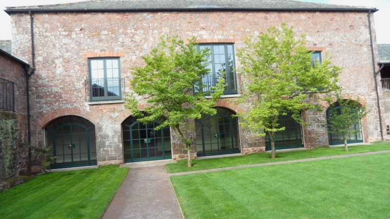 Arched Steel Frame Orangery Windows Farmhouse Devon Builders