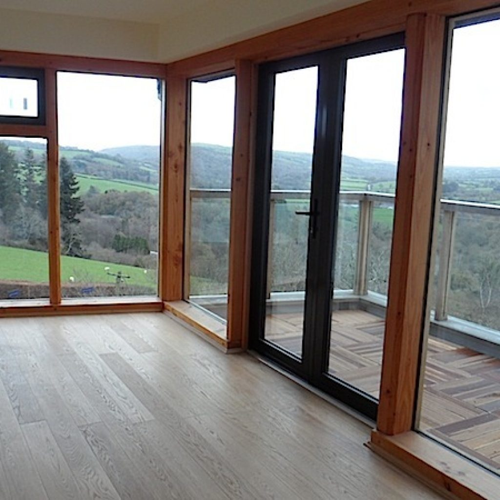 Bay Windows Oak Floor Living Room Devon
