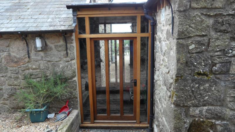 Devon Builders Oak Framed Glass Front Door