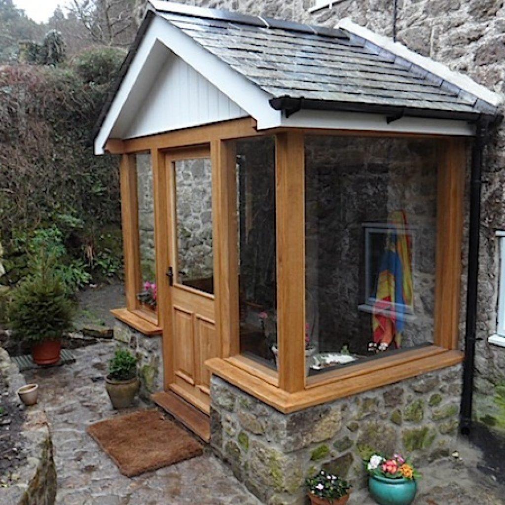 Devon Builders Porch Oak Granite Stone