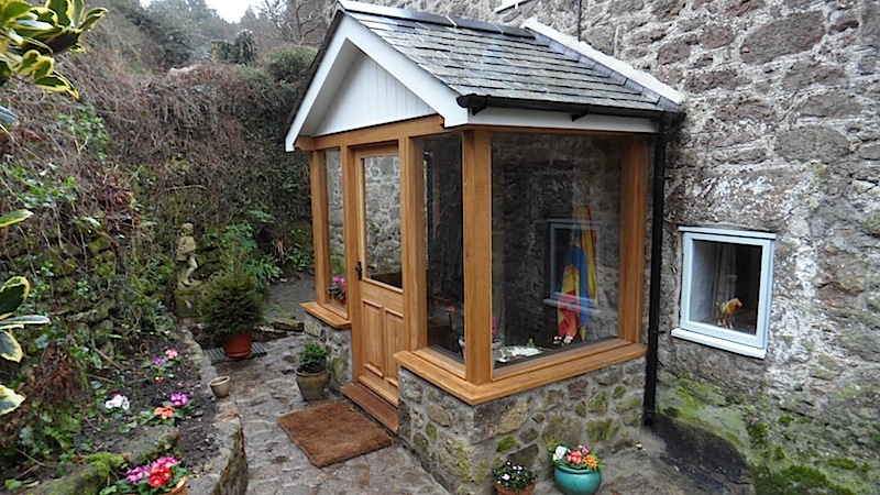 Devon Builders Porch Oak Granite Stone