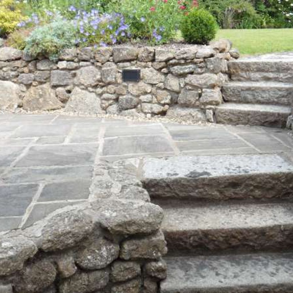 Granite Garden Steps Devon Cottage