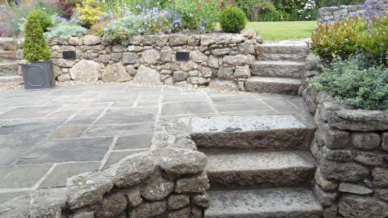 Granite Garden Steps Devon Cottage