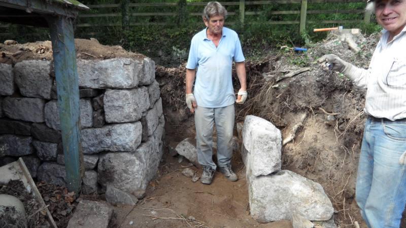 Granite Stone Wall Restoration Devon