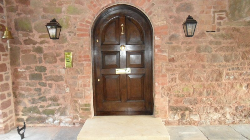 Large 17th Century Oak Entrance Door Restored Devon Builders