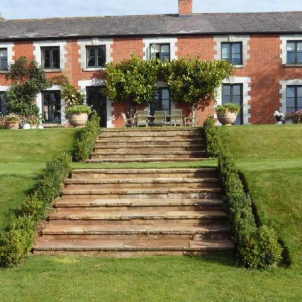 Large Devon Garden Steps Sandstone
