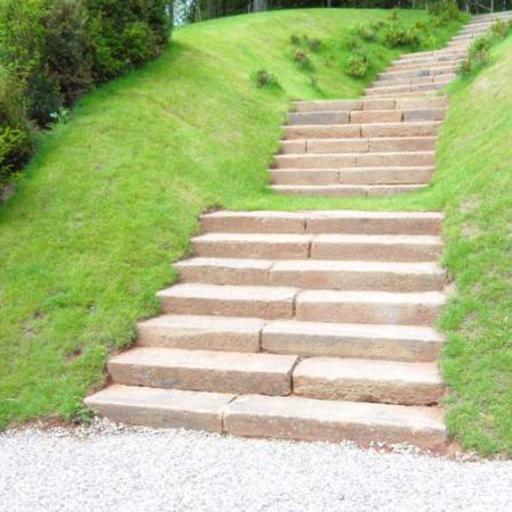 Large Devon Granite Garden Steps