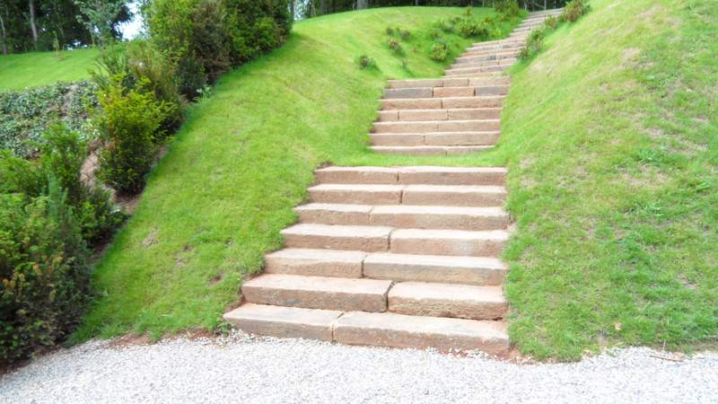 Large Devon Granite Garden Steps