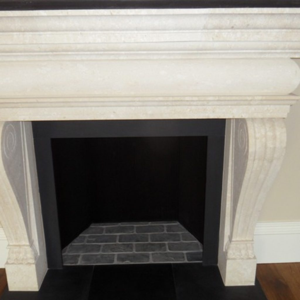 Limestone Fireplace Restoration Devon Builders
