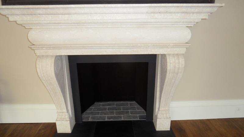Limestone Fireplace Restoration Devon Builders