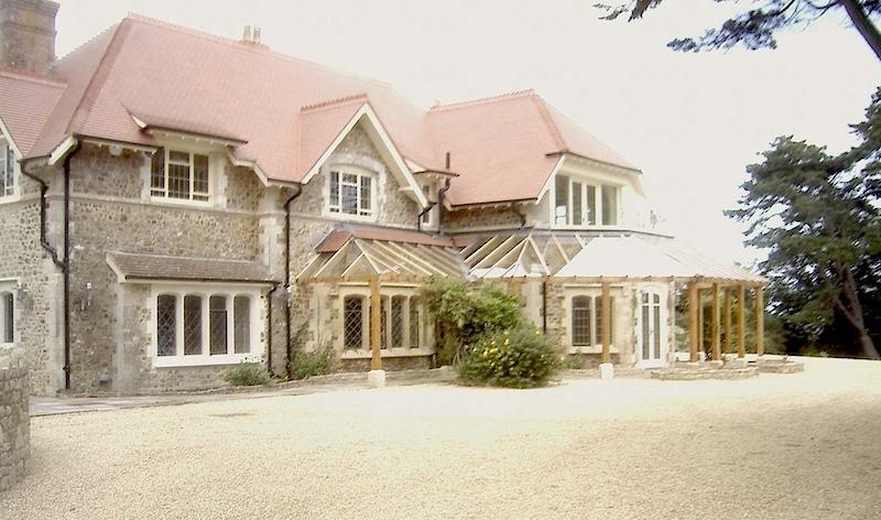New Build Glass Oak Walk Way Devon Stately Home