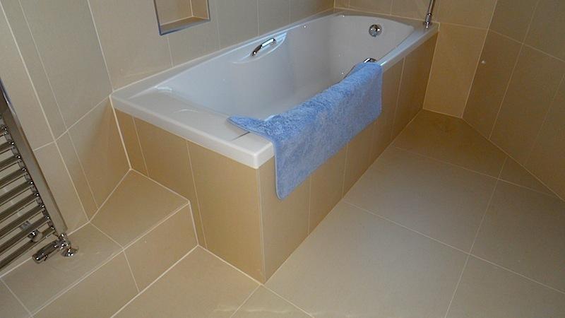 New Stone Tile Bathroom Devon Cottage Restoration
