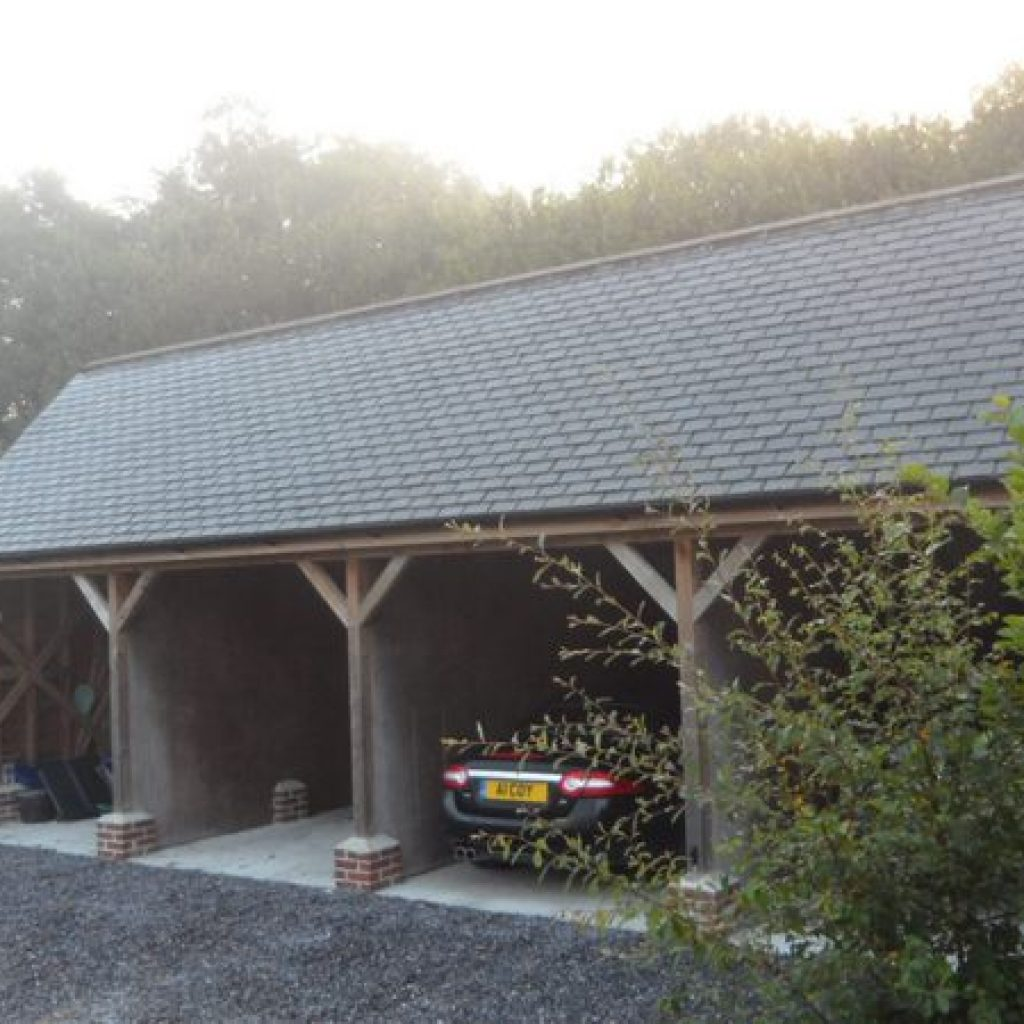 Oak Beam Car Port Devon