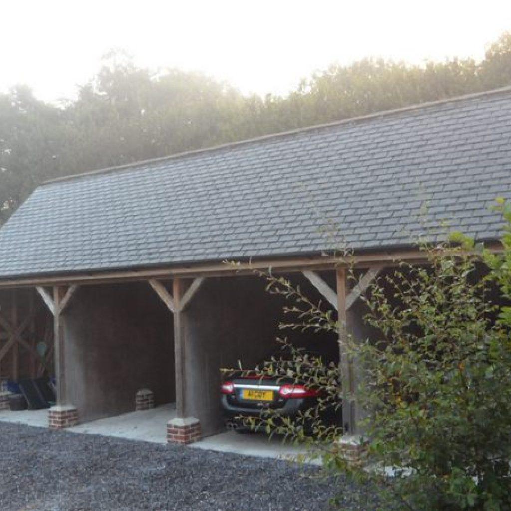 Oak Beam Car Port Devon