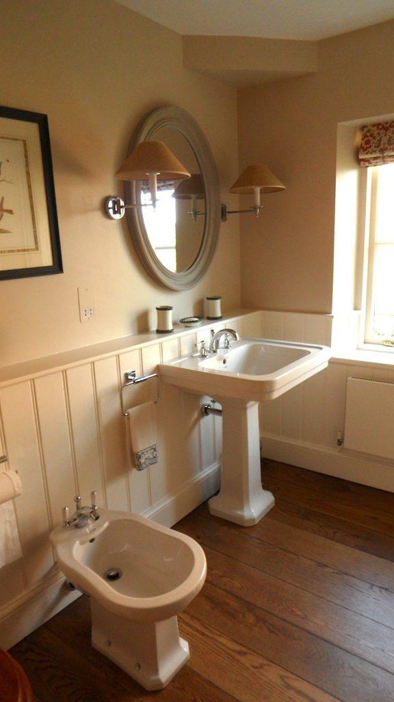 Oak Floor Wooden Wall Bathroom Restoration 17th Century House Devon