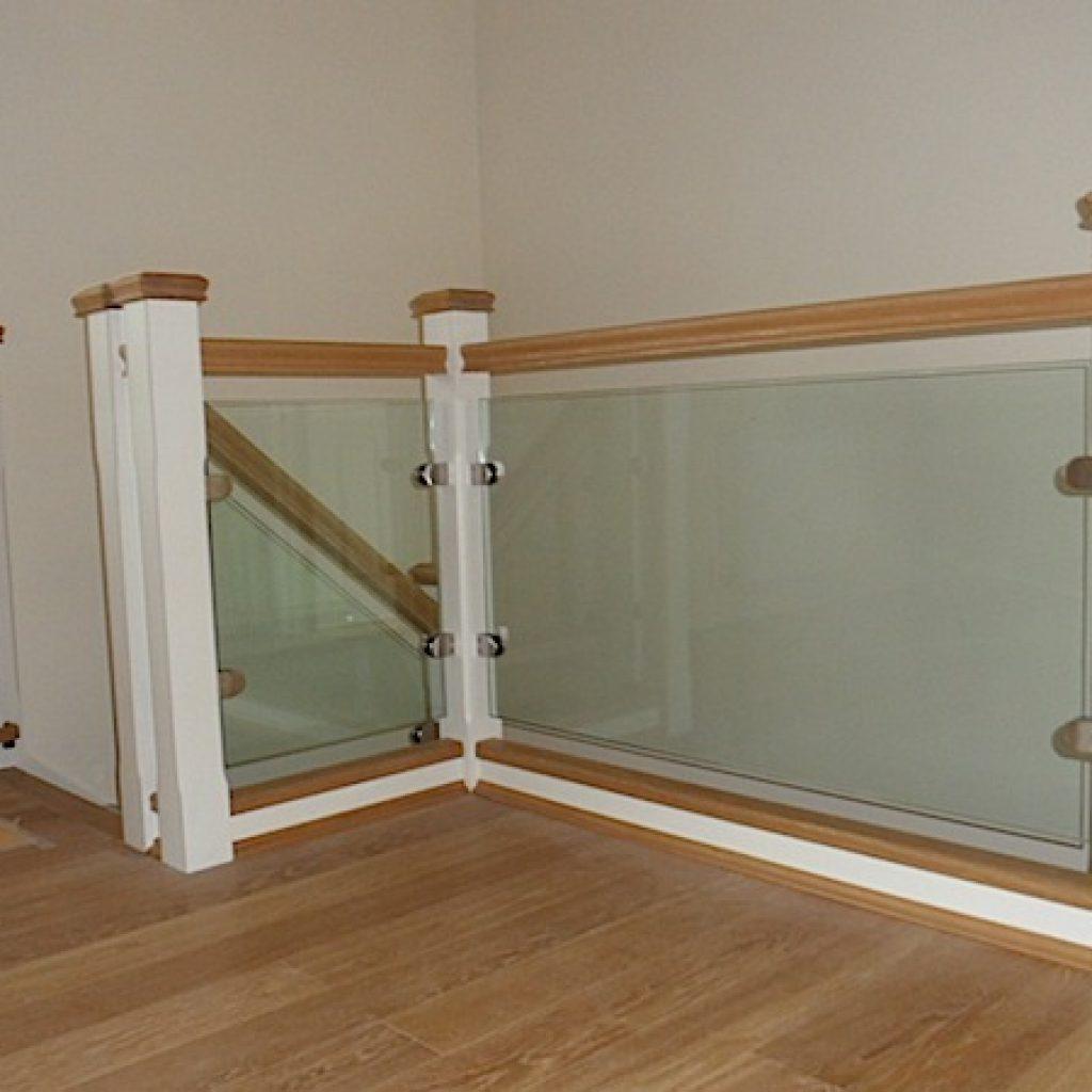 Oak Glass Panel Staircase Devon Builders Carpenters