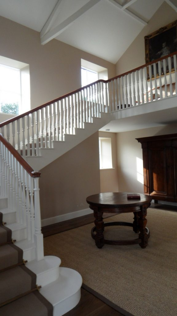 Painted Ceiling Beams 17th Century Staircase Restored