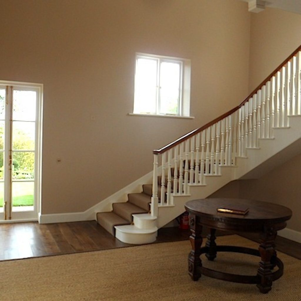 Restored 17th Century Wide Staircase Painted Spindles