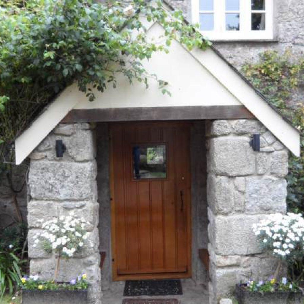 Restored Oak Front Door Devon Builders
