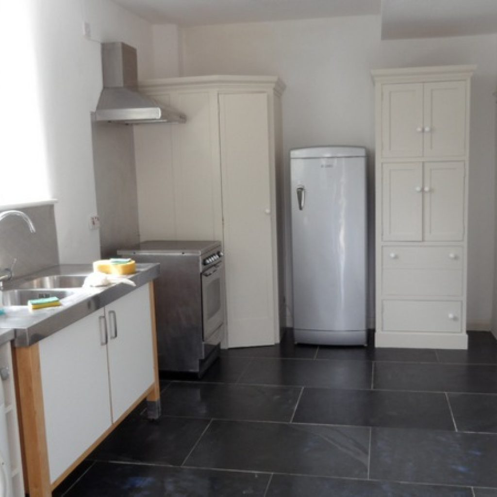 Slate Floor Tiled Kitchen Devon