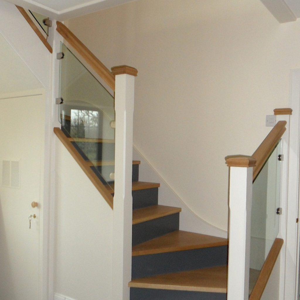 Staircase Renovation Rebuild Oak Wood Devon Builders 1