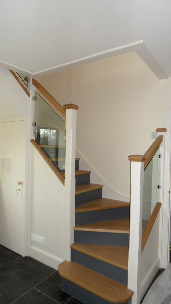 Staircase Renovation Rebuild Oak Wood Devon Builders 1