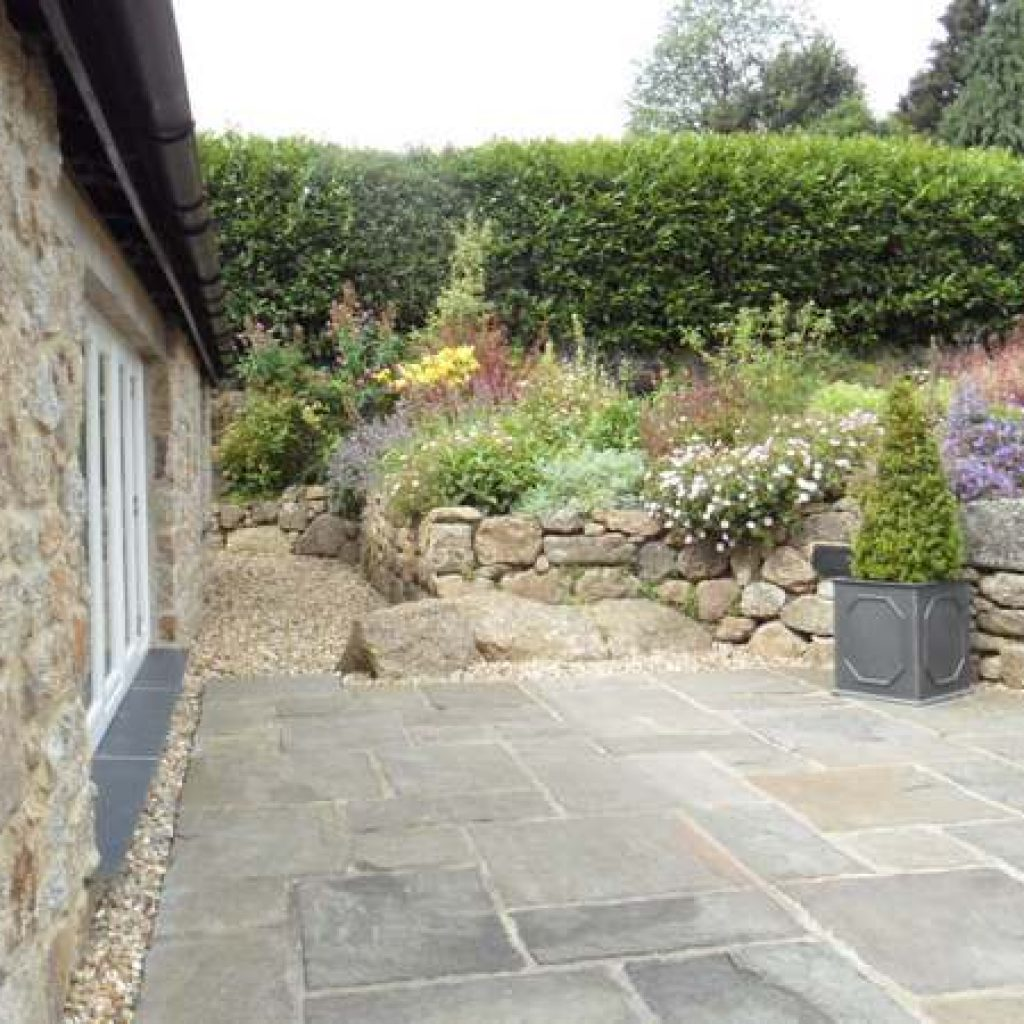 Traditional Pavement Slabs Devon Garden