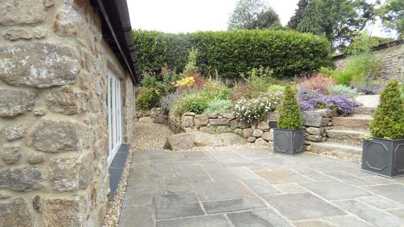 Traditional Pavement Slabs Devon Garden