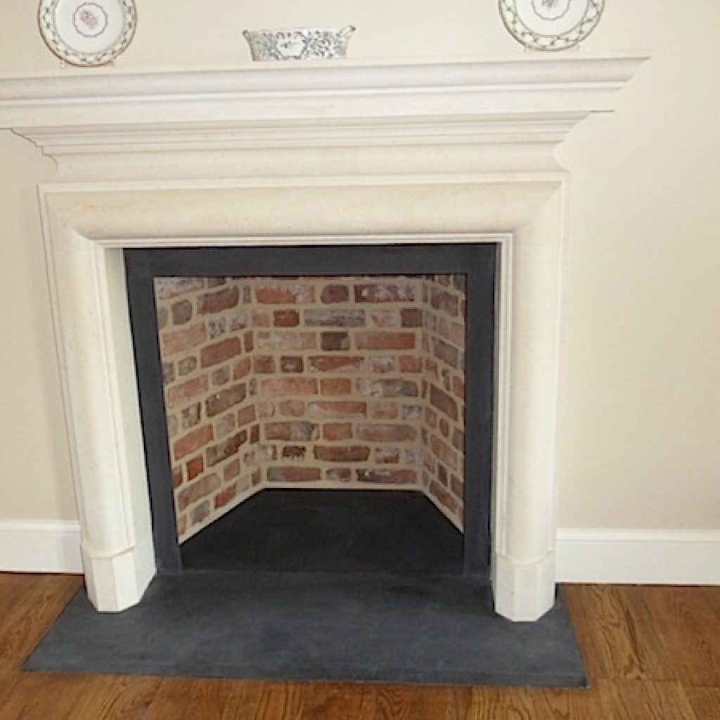 Traditional Slate Red Brick Fireplace Restoration Devon Builders
