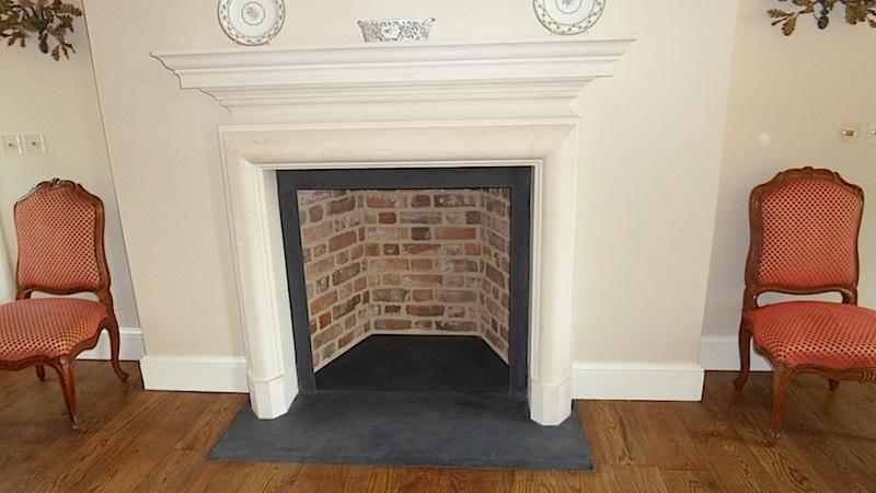 Traditional Slate Red Brick Fireplace Restoration Devon Builders