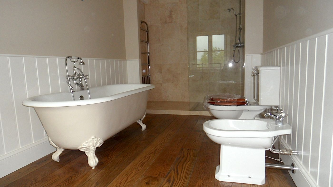 Custom Bathroom Suite With Stone Tiling Devon Builders Brimblecombe