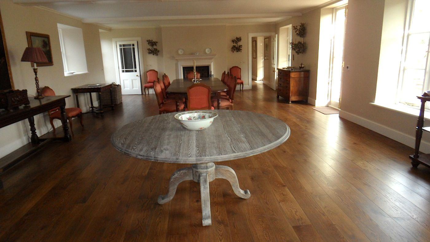 Dining Room Oak floor boards Yeoford Devon